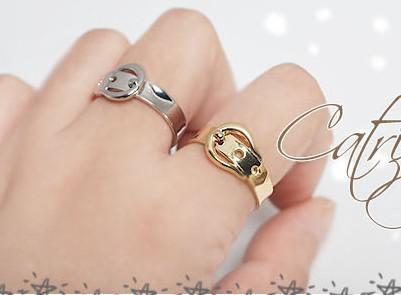 The most popular mixed color gold & silver belt belt buckle ring 100pcs