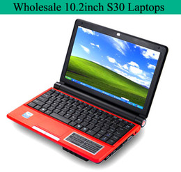 Wholesale Mini Laptop PC inch S30 Intel Atom D425 GHz Win7 OS Laptops G RAM DDR3 G