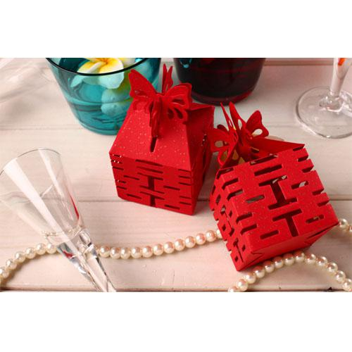 Asian Wedding Gift Baskets: Asia Themed Chinese Wedding Favors Double Happiness 4 Side