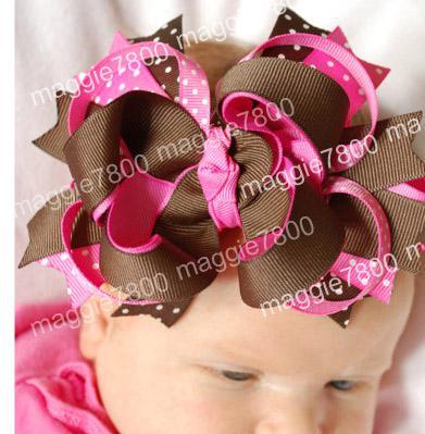 Großhandel Baby Mädchen Haarschleife Band Hairbows Haarband Haarband ...