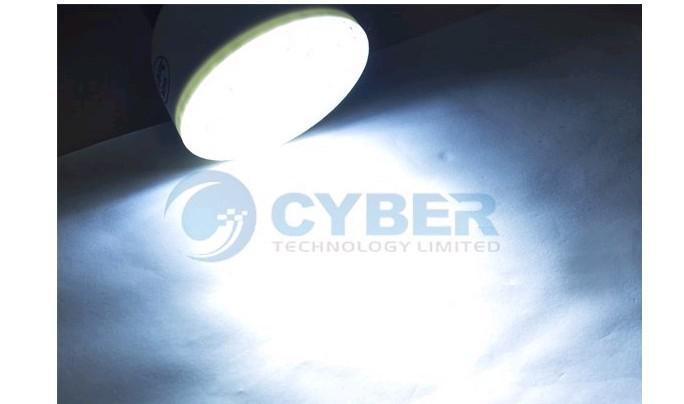 E27 54 LED PIR Capteur de mouvement Ampoule 3W 85-265V Lampes à économie d'énergie Blanc pur / blanc chaud