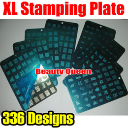 336 Designs XL Stamp Stamping Image Plate French Full Desgin Nail Art Large Template DIY