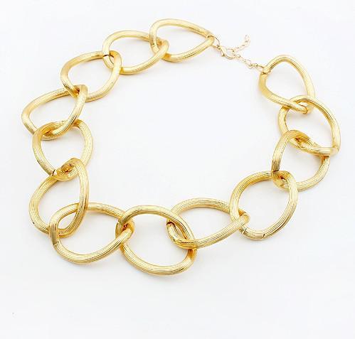 Gouden ketting ronde ring choker ketting scrub Europese sieraden kraag ketting 20pcs / lot