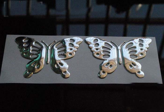 3D PVC kelebek Araba pencere sticker çıkartmaları Amblem mix renk tampon srickers