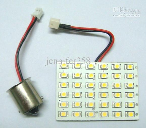 ba15s dome bulb 36 smd led 12v dc warm white color 288lm 1pc