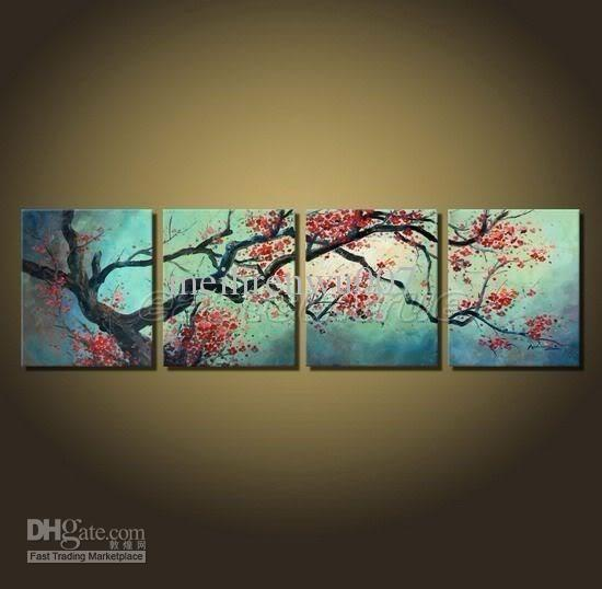 2018 Modern Wall Decor Cherry Blossom Art Paintings Framed From  Meilirenwu007, $90.46 | Dhgate.Com