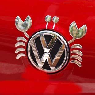 50 stks / partij 3D Crab Grappige Bumperstickers PVC Cool Car Decals Emblemen Goedkope Groothandel China