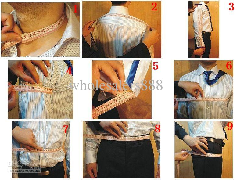 Custom Made Black Groom Tuxedos Notch Revers Groomsmen Mannen Huwelijkspakken Jas + Broek + Tie + Vest H182