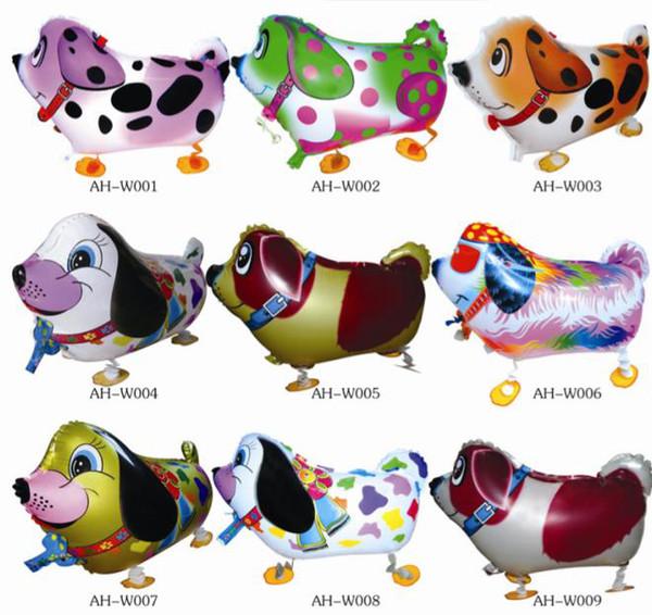 Alta qualità a buon mercato a piedi animale palloncino gonfiabile in alluminio a piedi pet balloon decorazione di natale giocattoli per bambini festa di compleanno palloncini