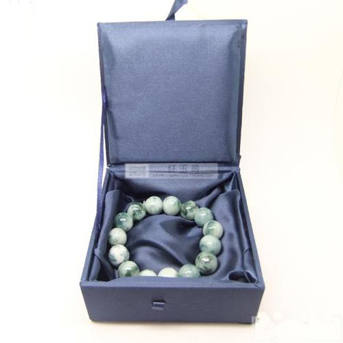 Bomull Fylld Decoratel Fashion Armband Smycken Gift Box Display Box Förvaringsväska Silk Brocade Kartong Craft Förpackning Boxar 25st /
