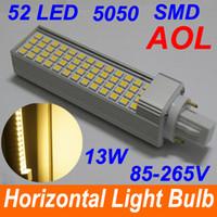 g24 52 led Canada manufacturers - led G24 E27 13W 52 LED SMD 5050 led Spotlight Dow Light Bulb Lamp White Warm White (AC85-265V )