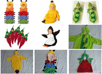 Wholesale Baby Geese - Retail 1pcs 5 styles-Newborn Baby sleeping bag caterpillar pea banana pengiun chilli sleeping bags