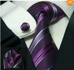 Wholesale Bar Cufflinks - Men's South Korea Silk Tie Set NeckTie Hanky cufflinks Neck Tie +Hanky+Cufflinks+Bar 10sets lot#1994