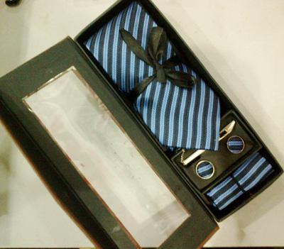 Luksusowy Korea Południowa Jedwabna krawat Zestaw Krawat Hanky Cufflinks Neck Krawat + Hanky + Spinki do spineków + bar / # 1993