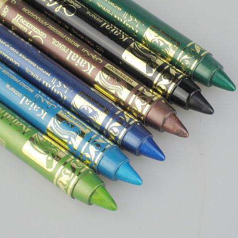 12st / parti 6 färger Vattentät långvarig ögonskugga Penna Emerald Micre Exakt ansökan lätt att bära P11014