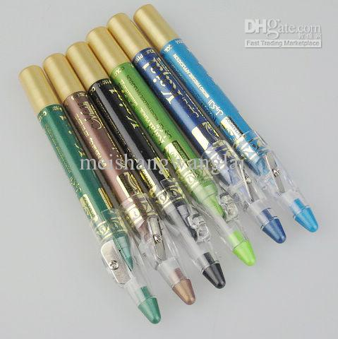 12 adet / grup 6 renkler Su Geçirmez Uzun Ömürlü Göz Farı Kalem Zümrüt Micre Hassas Uygulama P11014 Giymek Kolay
