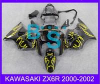 Wholesale Ems Free Fairings - EMS Free shipping fairing for KAWASAKI ZX6R 00 02\201 ,2000 2001 2002 ZX6R 00 01 02 2000-2002 234