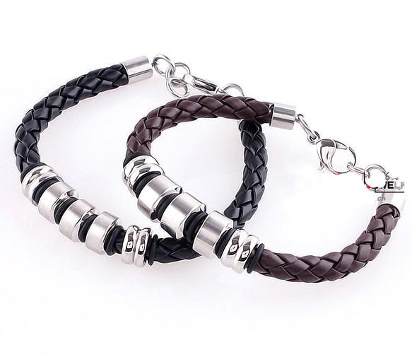 20% off discount! charm paracord bracelet bangle bracelets Titanium steel/leather bracelets