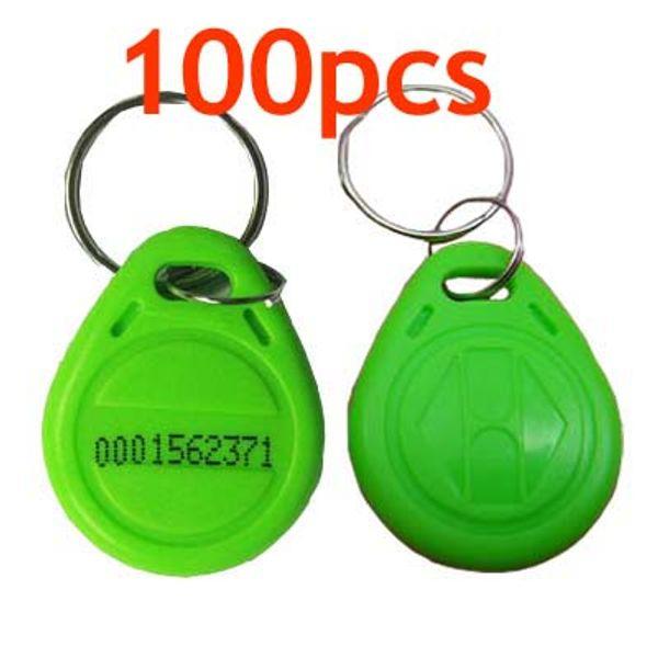 RFID Proximity ID Token Tag Key Ring 125Khz RFID cards Green 100pcs/lot