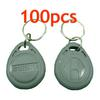 RFID Proximity ID Token Tag Key Ring 125Khz RFID cards Grey 100pcs lot