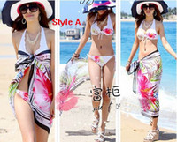Wholesale Orange Swimsuit Skirt - 10pcs Scarf Bikini Beach scarves Veil Wrapped yarn Beach towel Wrap skirt Scarf Swimsuit veil #131