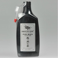 Wholesale Super Black Ink - Super Black 12OZ MAKKURO SUMI PURE BLACK Tattoo Inks Pigment 360ML Tattoo Kits Supply