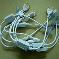 tiras de luz led conectores de poder al por mayor-Enchufe de energía de la UE de 5PCS 220V 3528,5050, conector para la tira de LED de alta tensión