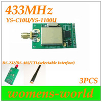 Wholesale Rf Transceiver Module 433mhz - YS-C10U 300m RF modules data transceiver module(1100U) 433MHz,AMR Wireless Smart Terminal 3PCS