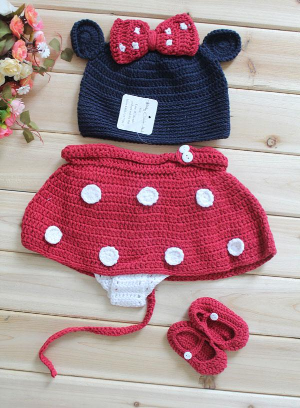 2018 Minnie Mouse Hat With Red Bow Diaper Cover And Shoes To Match