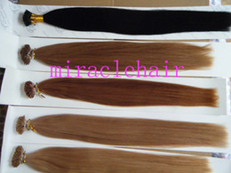"Wholesale Stick I Tip Wholesale - MIRACLE 100g 1g s stick I tip prebonded human REMY hair extensions INDIAN 18"" 20"" 22"" 24"" black brown blonde"