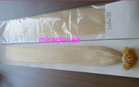 "Wholesale Stick I Tip Wholesale - high qaulity 22"" 24"" 100g 1g s stick I tip hair extensions INDIAN REMY black brown blonde optional in stock"