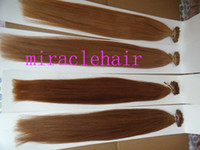 "Wholesale Indian Remy Hair Bulk Blonde - BULK STOCK 22"" 100g 1g s stick I tip prebonded hair extensions INDIAN REMY black brown blonde colors"