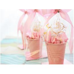 Wholesale Candy Shiping - Free Shiping,100pcs lot Pink Tin Pails wedding favors,mini bucket, mini pails,tin candy box