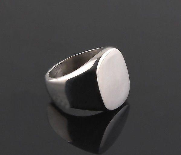Vintage Signet Ring - Sterling Silver SZ 8.5 Gratis verzending