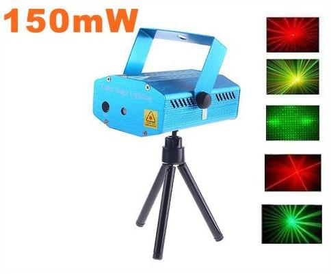 150mW Mini Red-Green Moving Party Laser LED Stage Light DJ Disco Dance Floor Lights Holiday Bulb