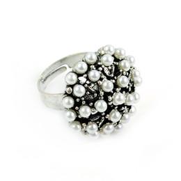 anelli di gioielli imitazione Sconti Fashion Europe Style in lega di zinco elegante imitazione perla anelli fascino gioielli, RN-609