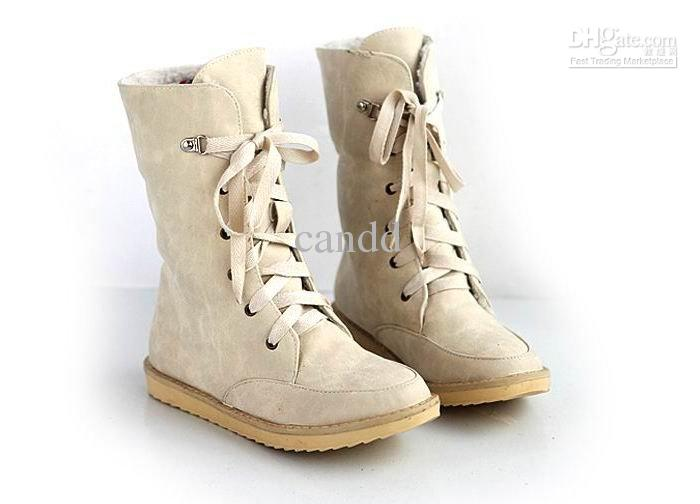 Cheap New Women'S Winter Lace Up Riding Boots Snow Boots ...
