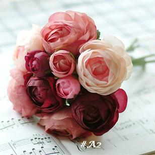 bridesmaid small bouquets wedding bouquetartifical flowerswedding favorshouse decorationhy 045