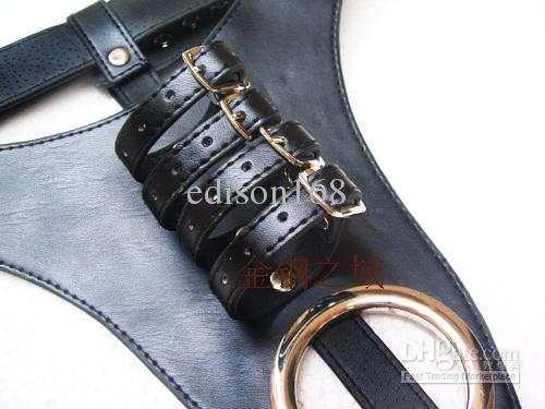 Ny manlig justerbar läder kyskhetsbälte enhet man kuk penis bur briefs knickers bdsm sexleksaker produkt A027