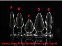 ingrosso unisex castità sesso-Ultimi dildo di cristallo dildo di vetro Anale Butt plug dispositivo di castità bdsm sesso ano giocattoli Prodotto