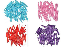 Wives Beads Canada - Lowest price 100pcs CCP Basketball Wives Earrings Spikes Beads Mix Colors 30MM