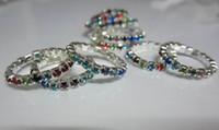 кольца для горного хрусталя оптовых-Hotsale горный хрусталь Toe кольцо, 12 цветов камни смешанные, blingbling ноги ювелирные изделия бесплатная доставка