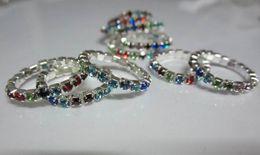 Hotsale горный хрусталь Toe кольцо, 12 цветов камни смешанные, blingbling ноги ювелирные изделия бесплатная доставка на Распродаже