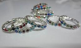 Hotsale горный хрусталь Toe кольцо, 12 цветов камни смешанные, blingbling ноги ювелирные изделия бесплатная доставка от