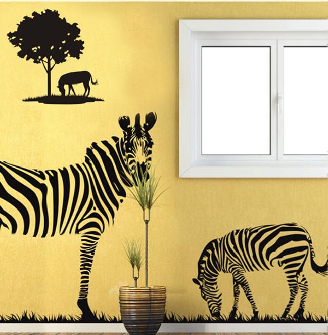Prairie Zebra Wall Decor Large Graphic Vinyl Wall Stickes Decals Mural Art Wall  Sticker Decal Room Stickers Room Stickers Decorations From Jeanwill, ... Part 38