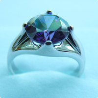 Free Shipping FINE 4. 0CT AMETHYST 14KT WHITE GOLD RING - AW00...