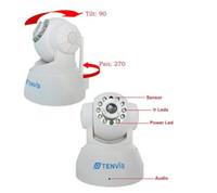 Wholesale Tenvis Wifi - TENVIS Wireless IP WiFi Camera 2-Audio IR Night Vision Internet Pan Tilt Webcam Supports iphone