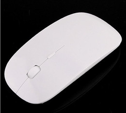 Venta al por mayor envío gratis Ultra Slim USB ratón inalámbrico blanco MIni Optical Mouse 30pcs / lot