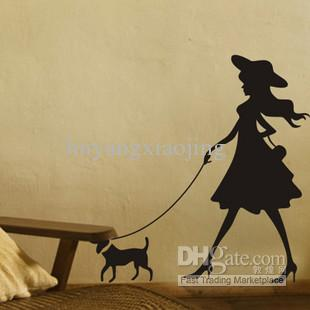 Dog Wallpaper For Walls the woman and the dog wallpaper wall stickers home stickers home