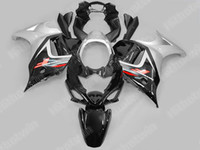 ingrosso corredo kit katana nero-Nave gratuita Kit carene moto argento nero per suzuki GSX650F 08 09 GSXR650 GSX 650F 2008 2009 Set completo